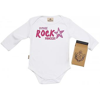 Spoilt Rotten Rock Princess Babygrow 100% Organic Cotton