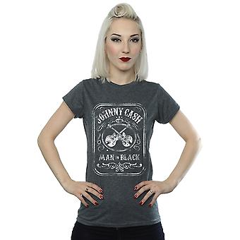 Johnny Cash Women's Man In Black Label T-Shirt