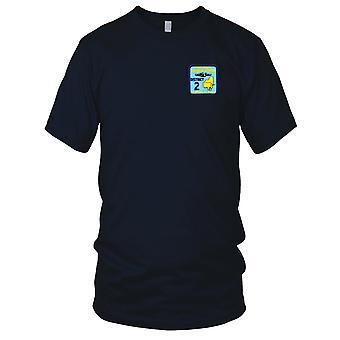 US Navy veteraanien alueella kaksi kirjailtu Patch - Miesten T-paita
