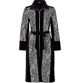 Pastunette 7072-327-8-999 vrouwen Luxe zwarte geometrische Robe badjas
