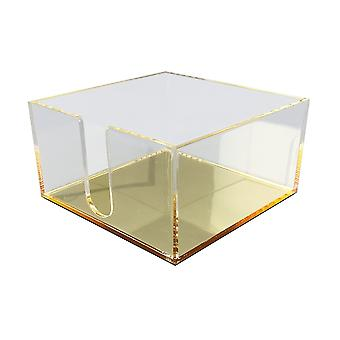 OnDisplay Luxe Acrylic Post-It Note Tray - Gold Mirror