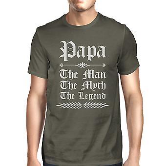 Vintage Gothic Papa miesten viileä harmaa söpö ylpeä isä t-paita suuri lahja