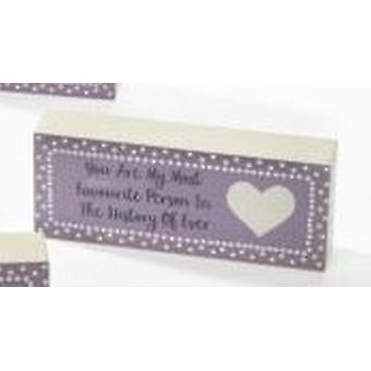 Mum Mini Standing Plaque - History Ever by Langs