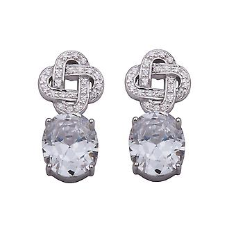 Orphelia Silver 925 Earring overschrijding van zirkonium ovale ZO-5899