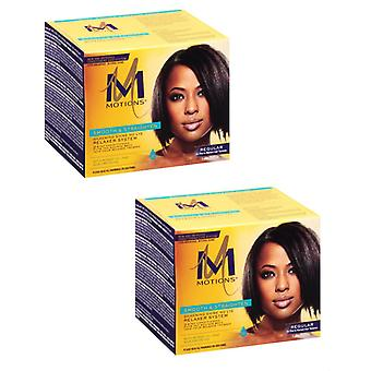 Motions Smooth & Straighten Silkening Shine No Lye Relaxer System - Regular (Pack of 2)
