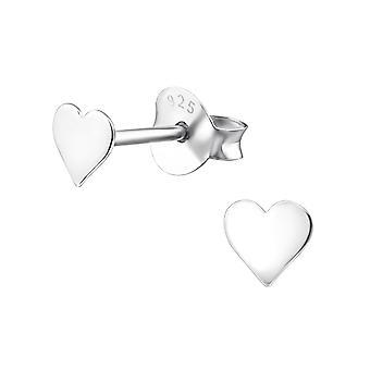 Cuore - 925 Sterling Silver pianura orecchini - W20621X