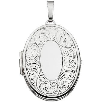Medaglione pendente dell'argento sterlina 925 rodiato parzialmente smerigliato ciondolo argento