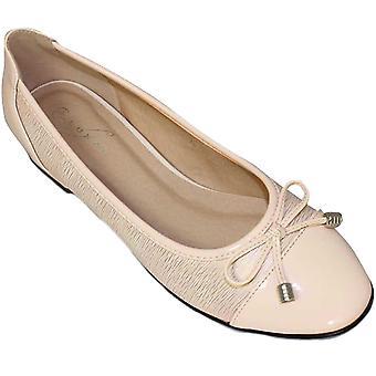 FLC006 Valencia hyvät keula aksentti patentti Smart Casual pumput Flats Dolly kengät