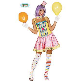 Traje de palhaço colorido para senhoras carnaval Carnaval festa aniversário engraçado circo