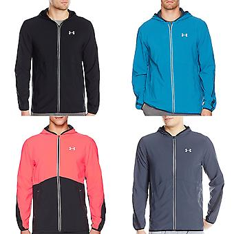 Under Armour Mens UA Launch Fitted Running Sports Full Zip Hooded Jacket Top