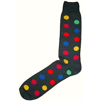 Bassin and Brown Spotted Midcalf Socks - Grey/Multi-colour