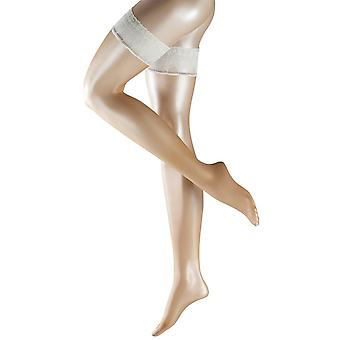 Falke Lunelle 8 Denier Ultra-Transparent Shimmer Stay Up Stockings - Powder/Champagne