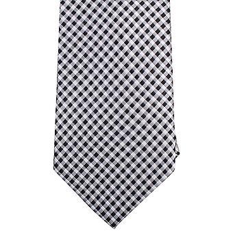 Gravatas de Knightsbridge pequeno verificado empate - preto/branco
