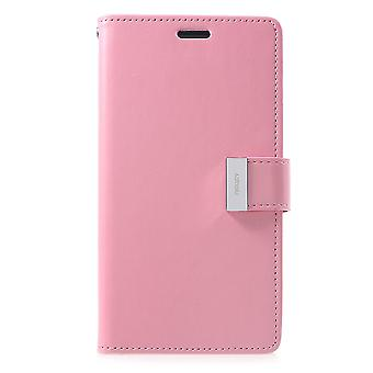 Mercury GOOSPERY Rich Diary for iPhone XR-Pink