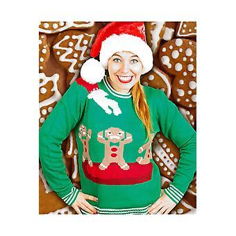 Trajes Navidad feo suéter Cookie para hombres y mujeres