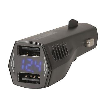 Dual USB 4.8A Smart IC Car Charger w/ LCD Voltage Display