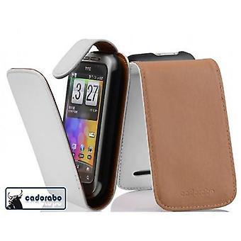 Fodral för HTC WILDFIRE S vikbart telefonhölje - lock - med magnetisk stängning