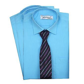 Page boys Classic Collar Aqua Shirt with Tie