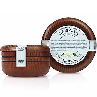 Mondial Luxury Shaving Cream Zagara Wooden Bowl 140ml