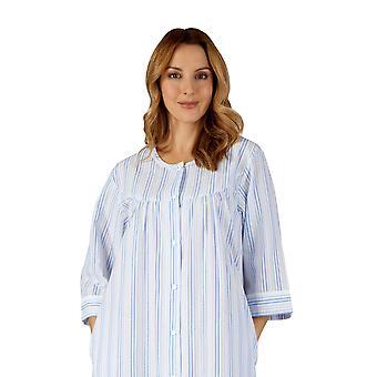 Slenderella HC3225 Women's Woven Striped Robe Dressing Gown