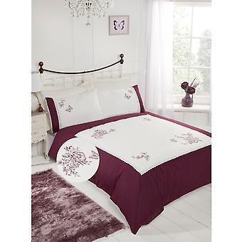 Hindernislauf Manor Unisex Floral bestickten Bettdecke Set