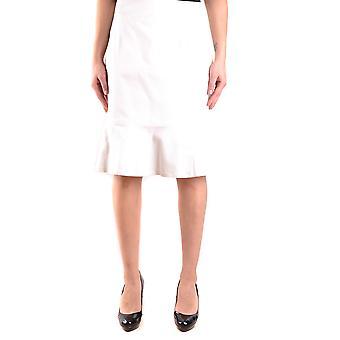 Red Valentino Ezbc026015 Women's White Cotton Skirt