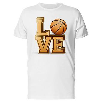 Love Basketball, Sport Lovers Tee Men's -Image by Shutterstock