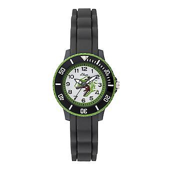 s.Oliver siliconen band horloge kinderen van jonge SO-3763-PQ