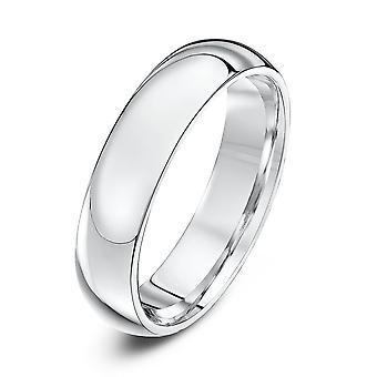 Anneaux de mariage étoile argent lourds Cour forme 5mm bague de mariage