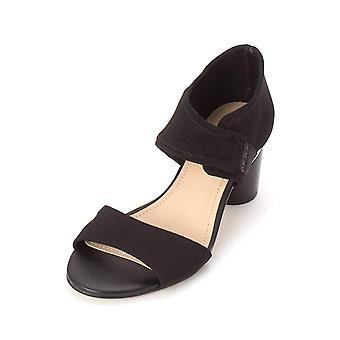 DKNY naisten Penny kangas avoin toe rento nilkka hihna sandaalit