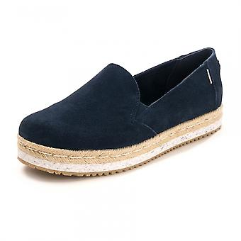 TOMS TOMS Navy Suede Womens Palma Espadrille