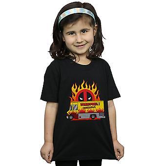 Marvel Girls Deadpool chimichangas van camiseta
