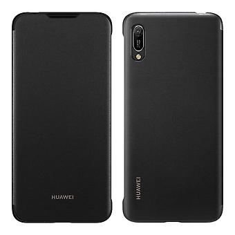 Huawei Y6 2019 beskyttende polykarbonat tilfelle svart teksturert beskyttende etui