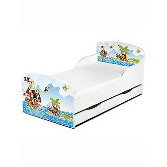 PriceRightHome Pirates cama para niños pequeños con almacenamiento de bajo en bedand