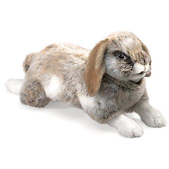 Hand Puppet Folkmanis Rabbit Holland Lop Animals Soft Doll Plush 2892