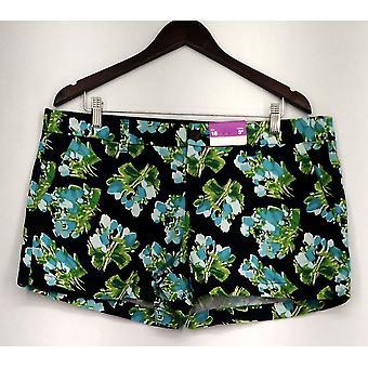 Merona shorts top søm 4 lomme blomster print Blå Dame