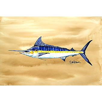 Carolines schatten 8754PLMT zwaardvis op zandstrand stof placemat