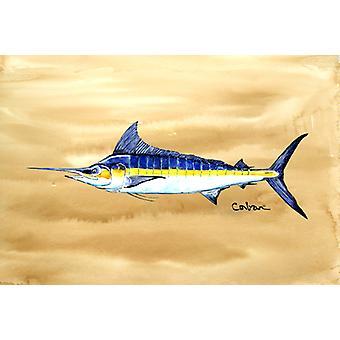 Carolines Treasures  8754PLMT Swordfish on Sandy Beach Fabric Placemat