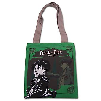 Tote bag-Attack on Titan-ny Levi Green anime licenseret ge82276