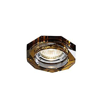 Diyas Crystal Downlight Deep Hexagonal Rim Only Bronze, IL30800 Required To Complete The Item