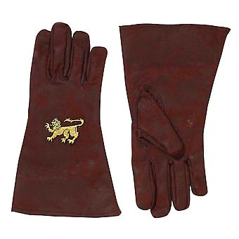 Medieval Knight Renaissance Crusader King Arthur Brown Mens Costume Gloves
