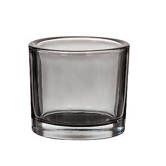 Ljuskopp 3-pack glas grijs 8 cm