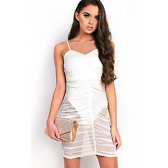 IKRUSH Womens Ariel Mesh Ruched Mini Dress