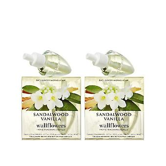 Bad & Body Works sandeltre vanilje wallflowers refill pære (2 Pack)