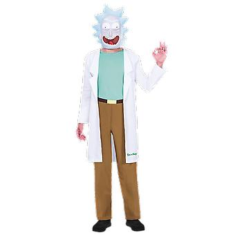 Mens Rick And Morty Rick Costume Halloween Fancy Dress