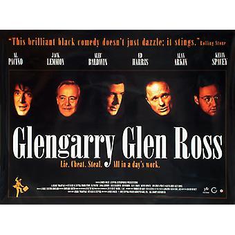 Glengarry Glen Ross (Single Sided) Original Cinema Poster