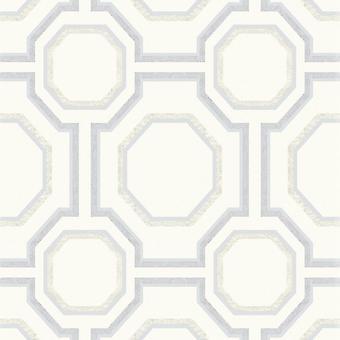 Symmetry Geometric Wallpaper Silver Arthouse 693900