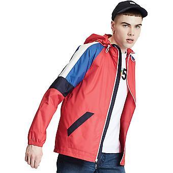 Levi's Colourblock Windrunner Lightweight Jacket Red 96