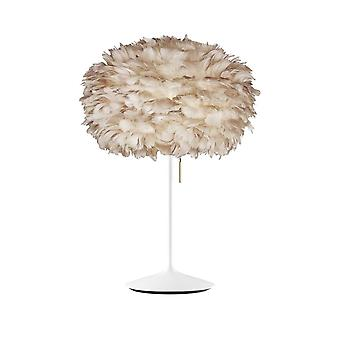 Umage Eos Table Lamp - Light Brown Feather Eos Medium/White Stand