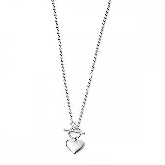 Beginnings Sterling Silver Heart Ball Chain Necklaces N4221